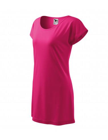2Adler MALFINI Koszulka/sukienka damska Love 123 czerwień purpurowa