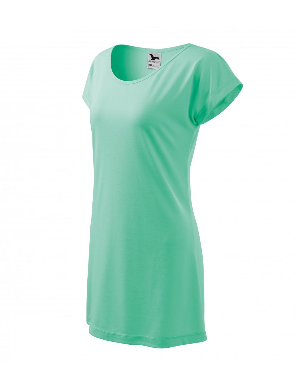 Adler MALFINI Koszulka/sukienka damska Love 123 miętowy