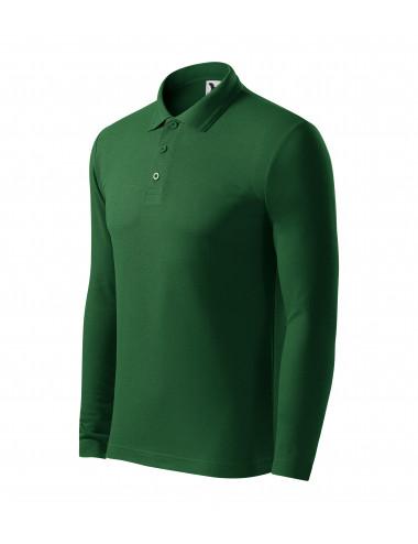 Adler MALFINI Koszulka polo męska Pique Polo LS 221 zieleń butelkowa