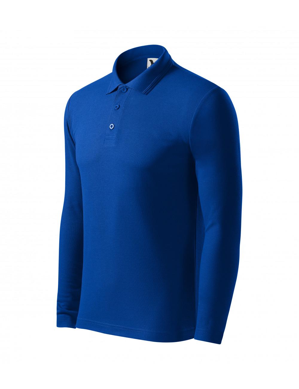 Adler MALFINI Koszulka polo męska Pique Polo LS 221 chabrowy