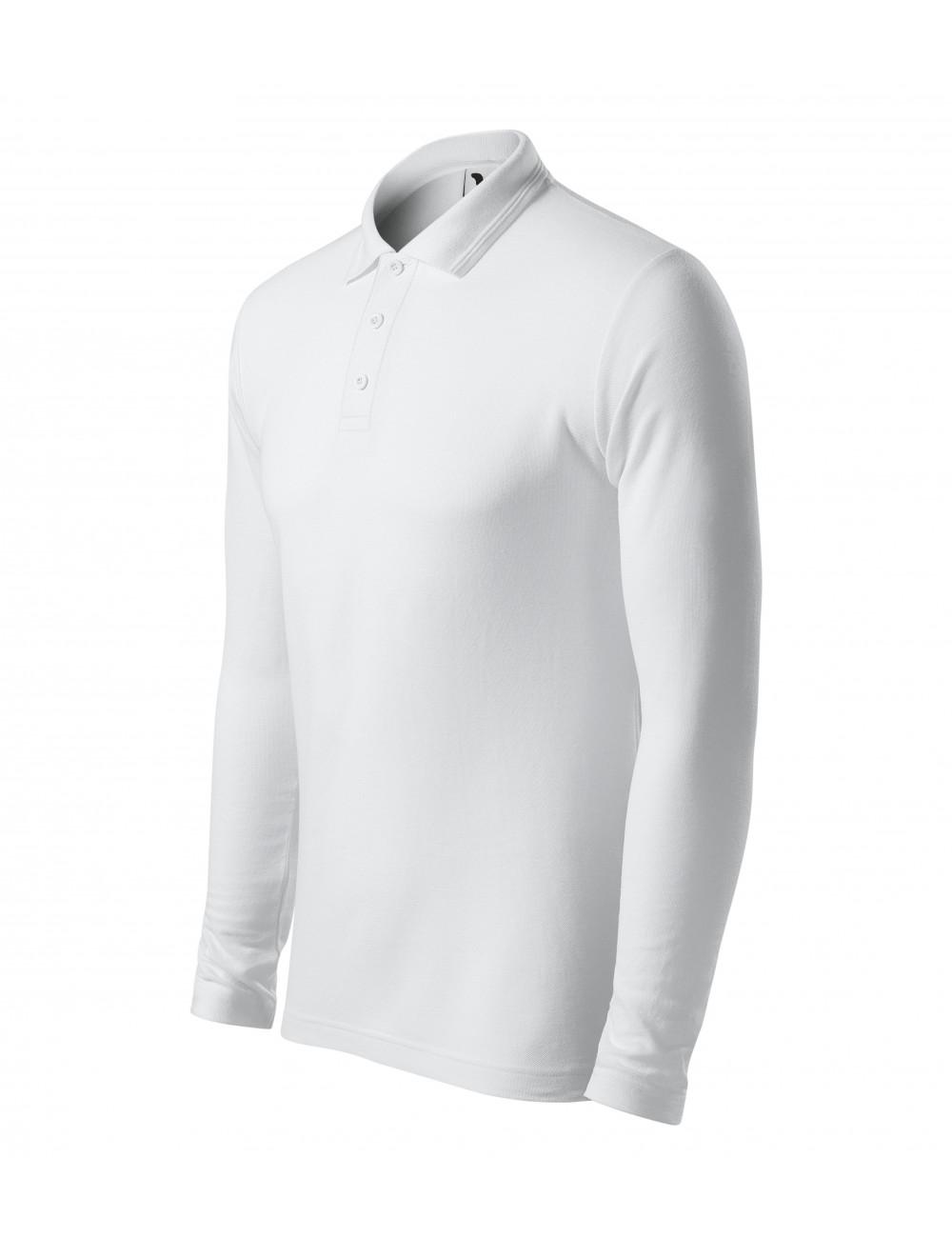 Adler MALFINI Koszulka polo męska Pique Polo LS 221 biały