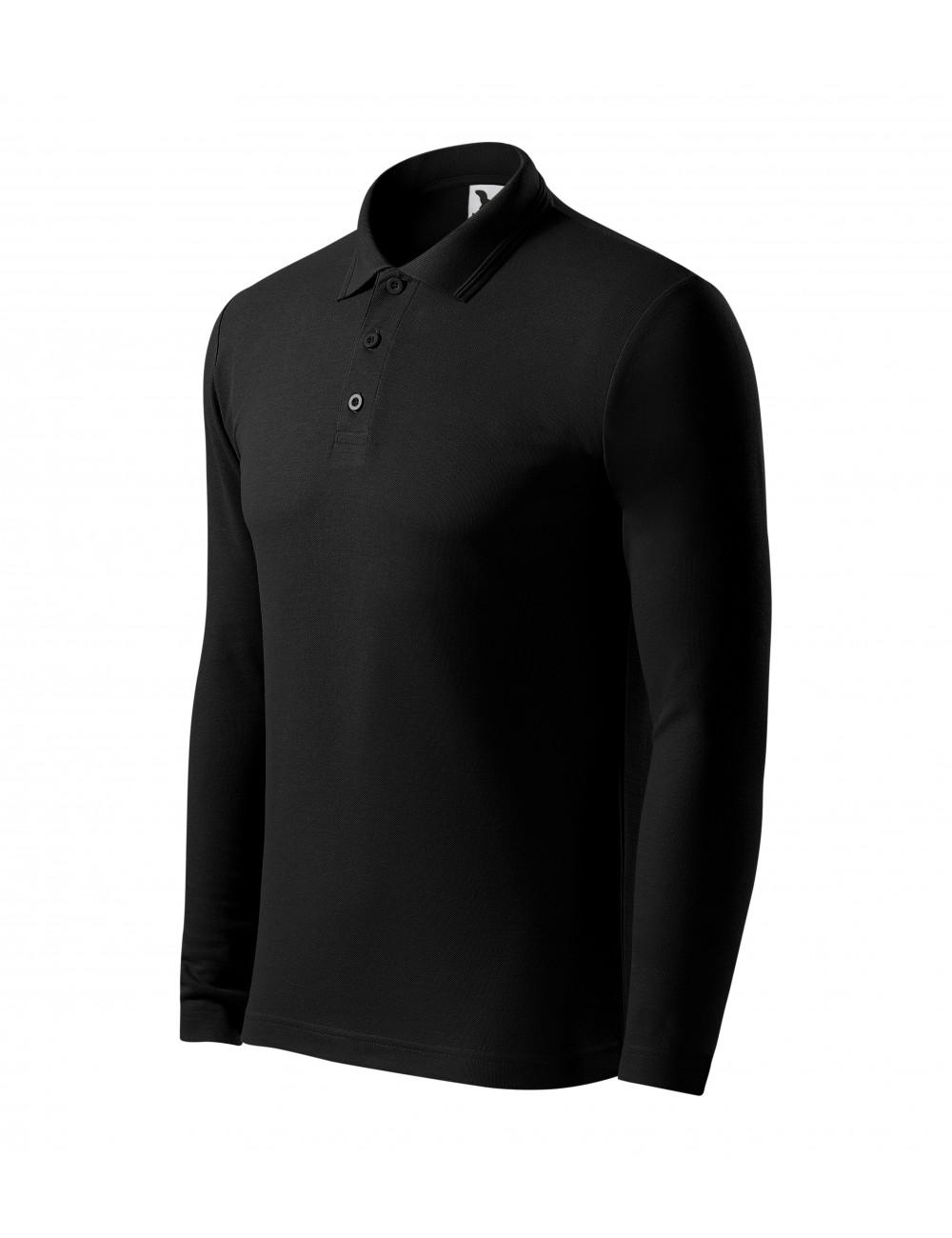 Adler MALFINI Koszulka polo męska Pique Polo LS 221 czarny