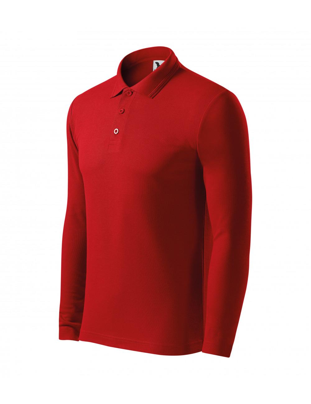 Adler MALFINI Koszulka polo męska Pique Polo LS 221 czerwony