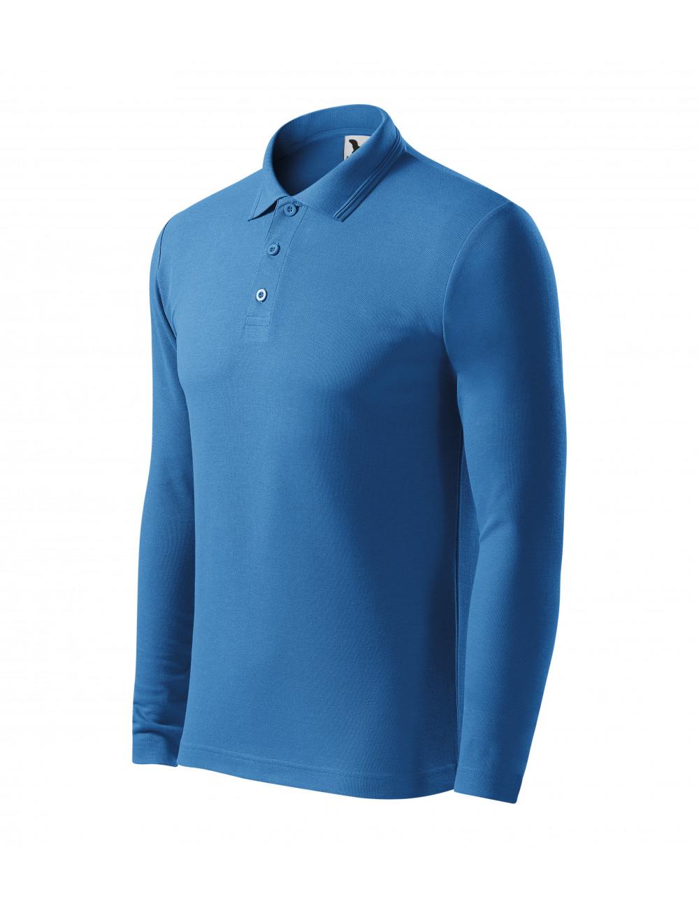 Adler MALFINI Koszulka polo męska Pique Polo LS 221 lazurowy