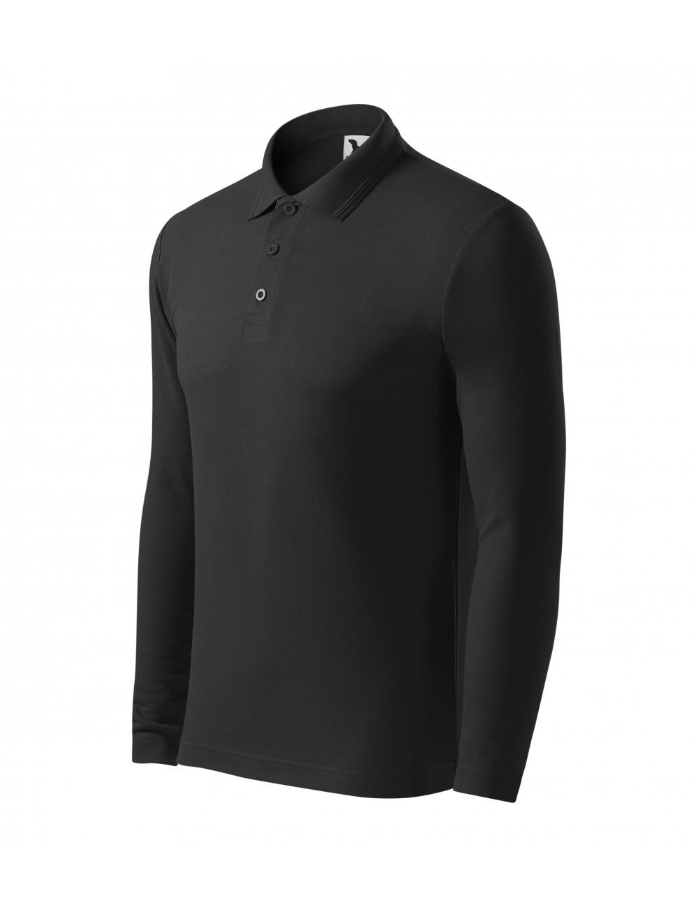 Adler MALFINI Koszulka polo męska Pique Polo LS 221 ebony gray