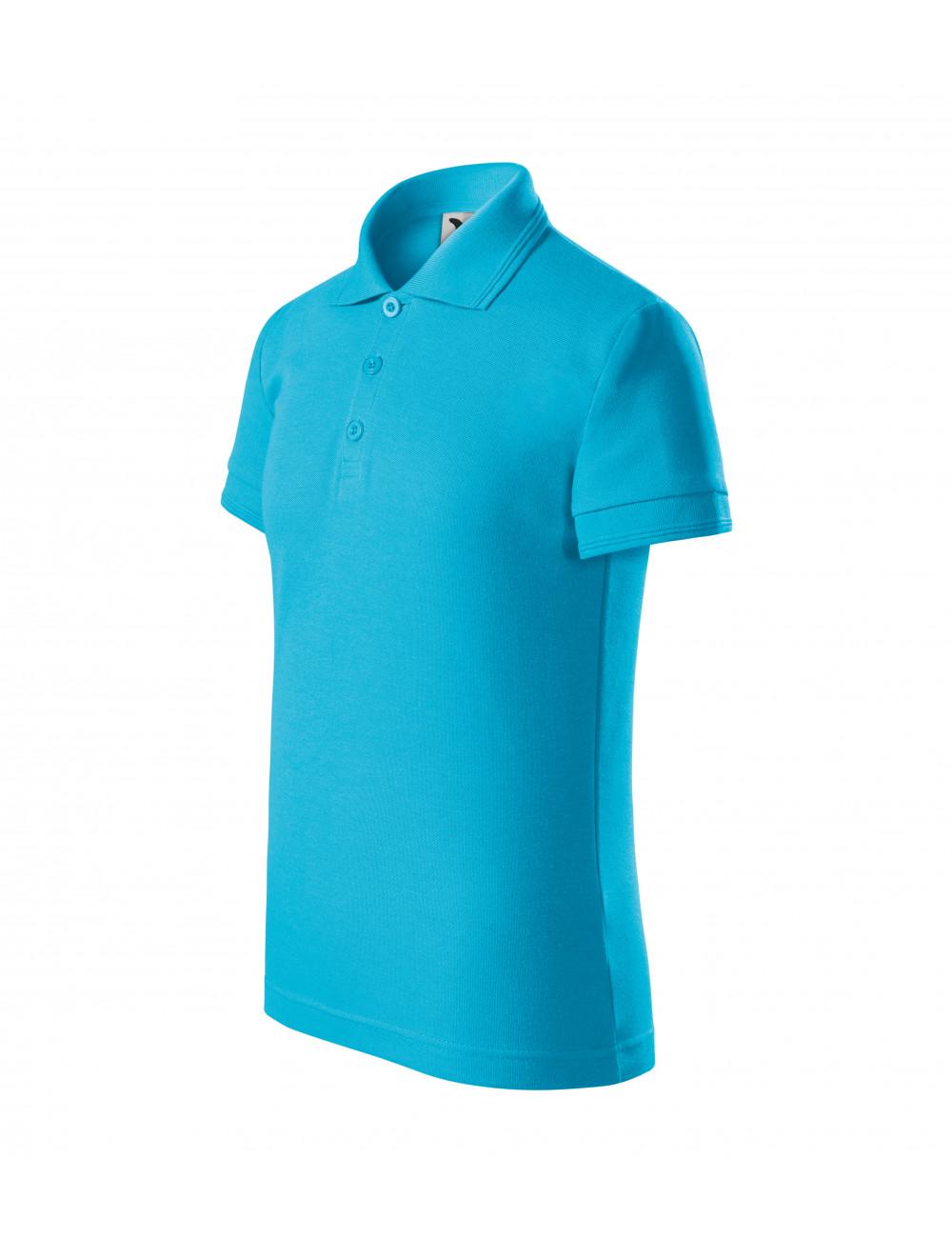 Adler MALFINI Koszulka polo dziecięca Pique Polo 222 turkus