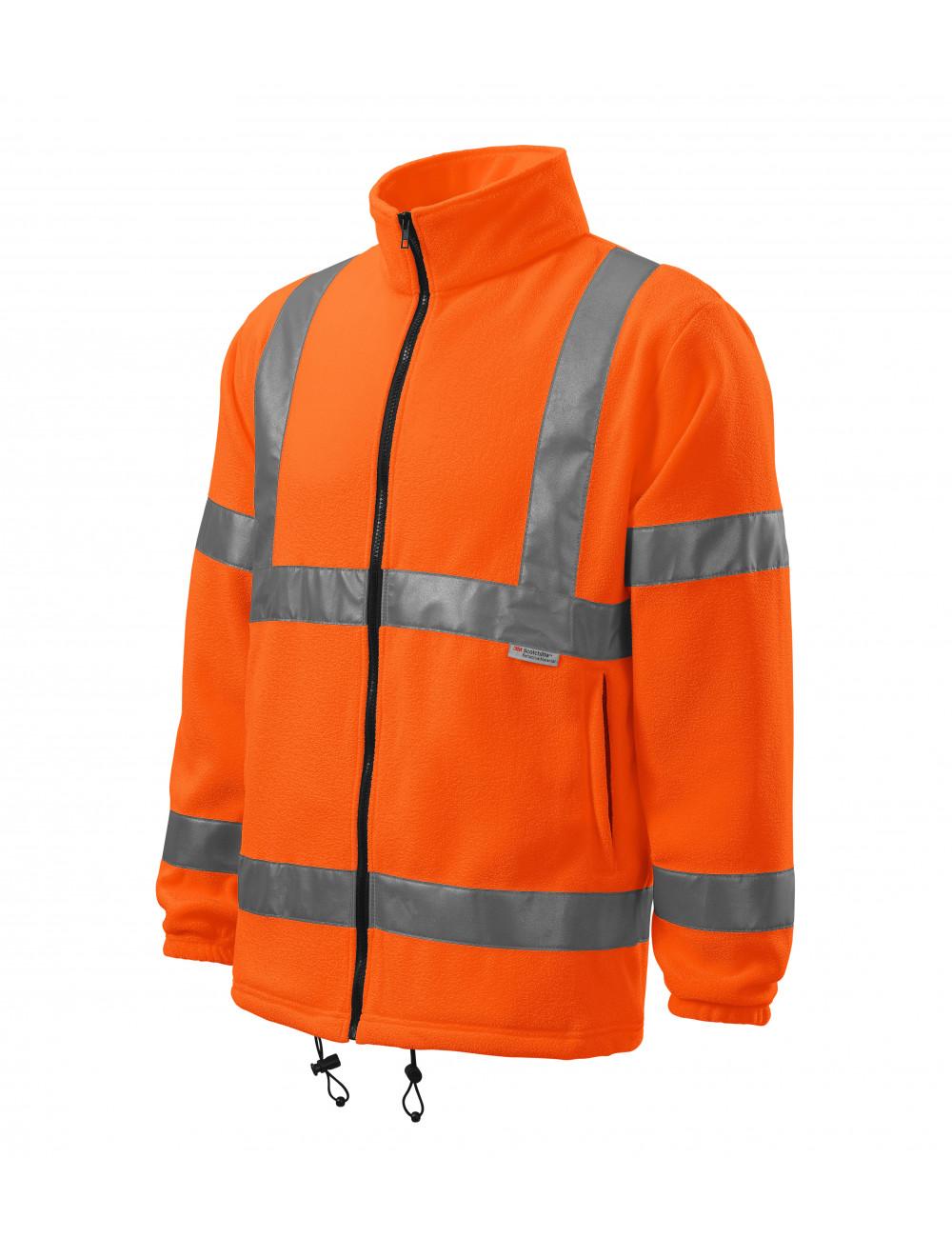 Adler RIMECK Polar unisex HV Fleece Jacket 5V1 odblaskowo pomarańczowy