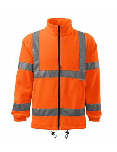 2Adler RIMECK Polar unisex HV Fleece Jacket 5V1 odblaskowo pomarańczowy