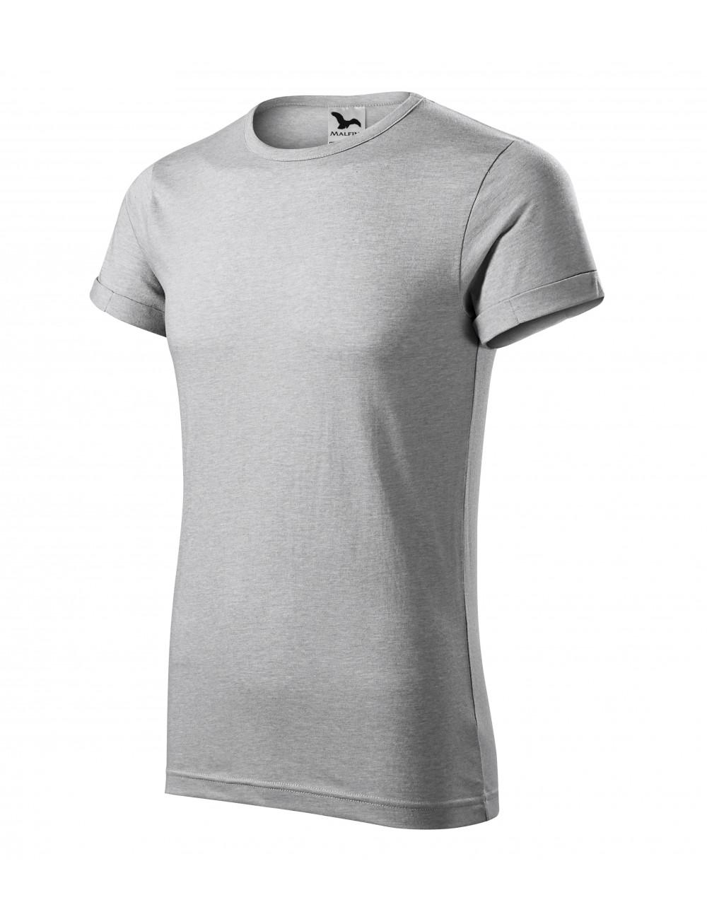 Adler MALFINI Koszulka męska Fusion 163 srebrny melanż
