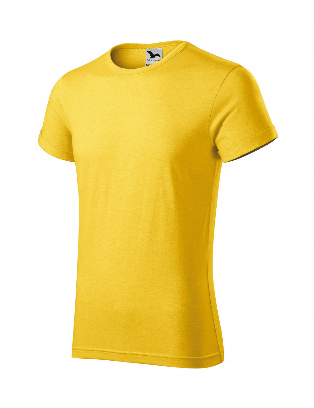 Adler MALFINI Koszulka męska Fusion 163 żółty melanż