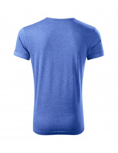 2Adler MALFINI Koszulka męska Fusion 163 niebieski melanż