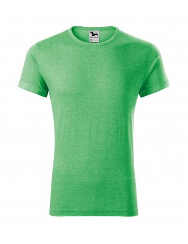 2Adler MALFINI Koszulka męska Fusion 163 zielony melanż