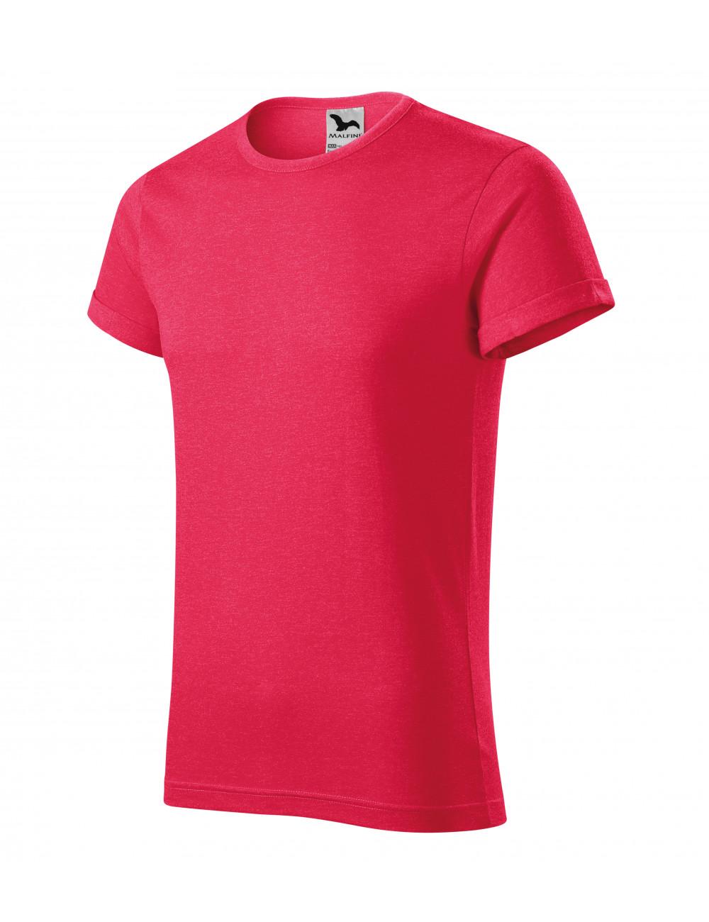 Adler MALFINI Koszulka męska Fusion 163 czerwony melanż