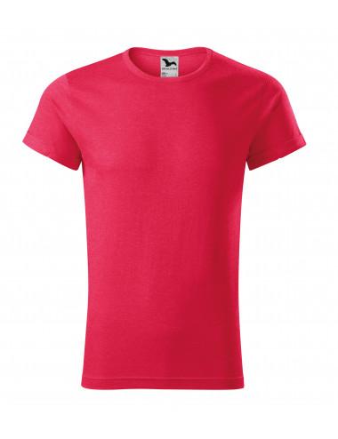 2Adler MALFINI Koszulka męska Fusion 163 czerwony melanż