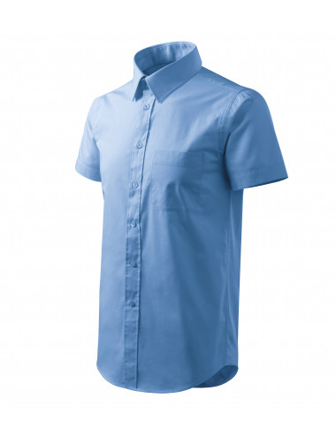 2Adler MALFINI Koszula męska Chic 207 błękitny