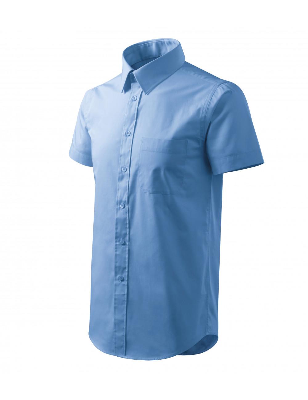 Adler MALFINI Koszula męska Chic 207 błękitny