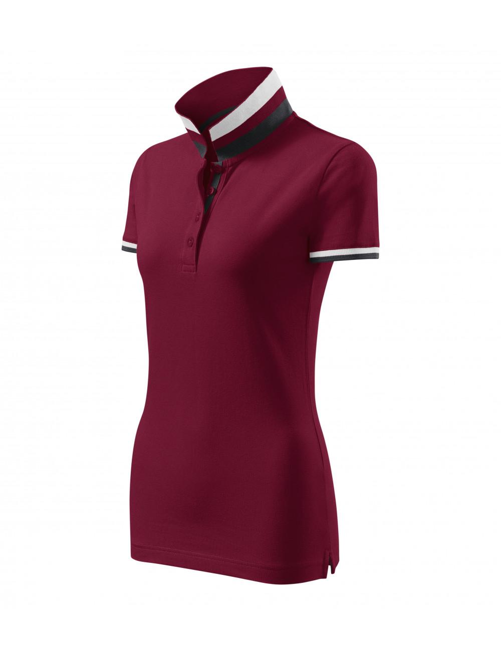 Adler MALFINIPREMIUM Koszulka polo damska Collar Up 257 garnet