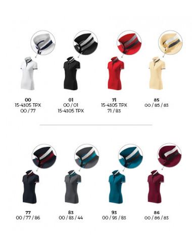 2Adler MALFINIPREMIUM Koszulka polo damska Collar Up 257 garnet
