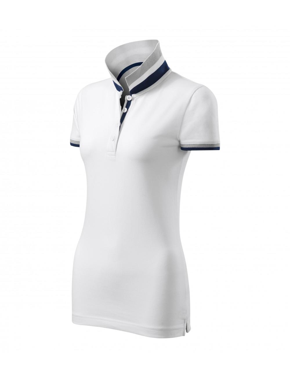 Adler MALFINIPREMIUM Koszulka polo damska Collar Up 257 biały