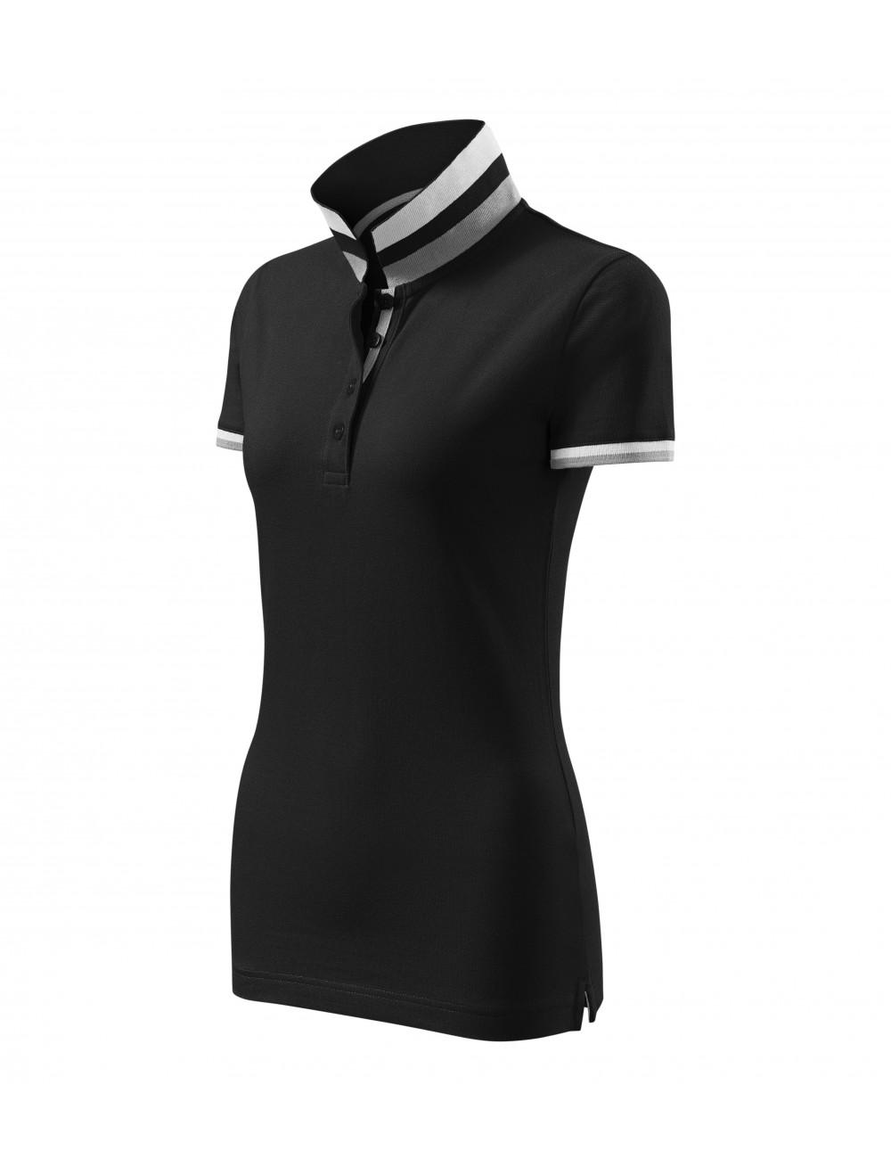 Adler MALFINIPREMIUM Koszulka polo damska Collar Up 257 czarny