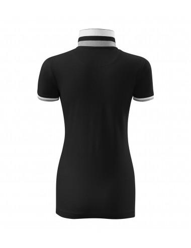 2Adler MALFINIPREMIUM Koszulka polo damska Collar Up 257 czarny