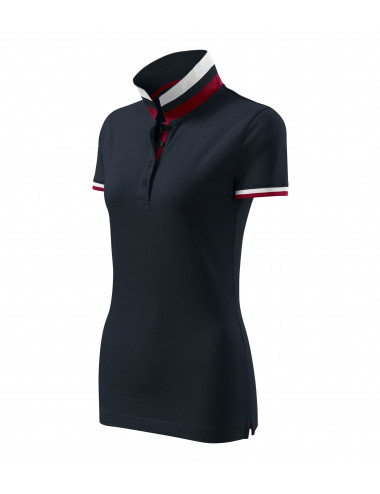 2Adler MALFINIPREMIUM Koszulka polo damska Collar Up 257 dark navy