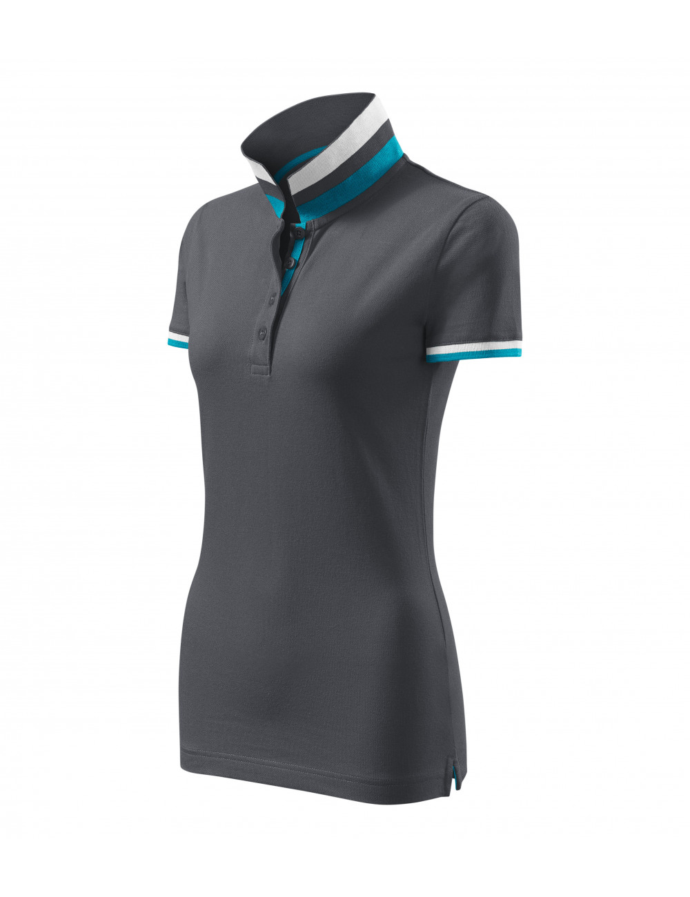 Adler MALFINIPREMIUM Koszulka polo damska Collar Up 257 light anthracite
