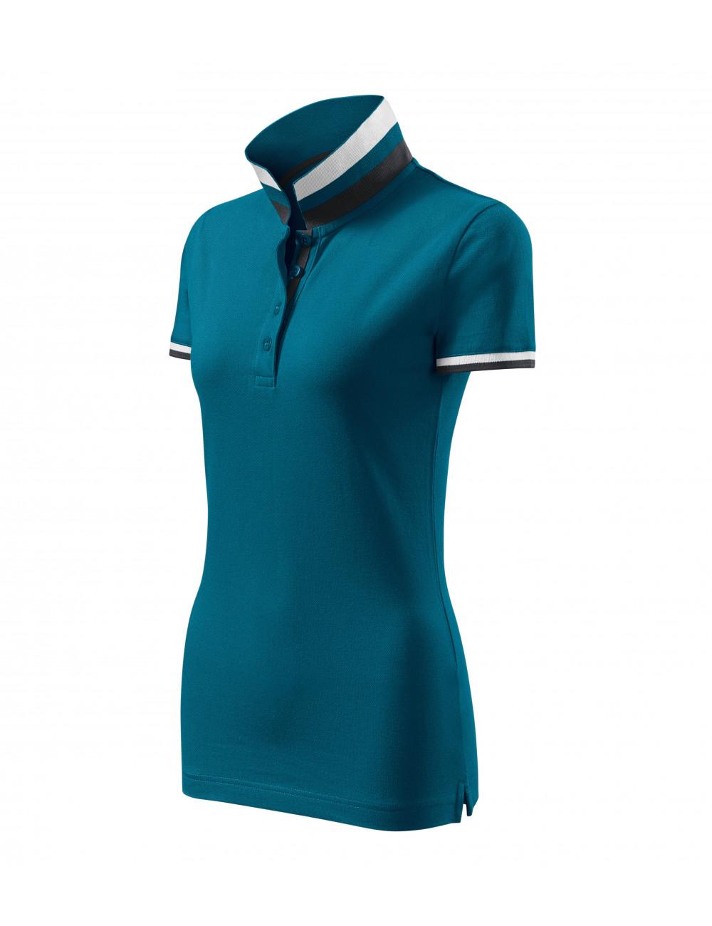 Adler MALFINIPREMIUM Koszulka polo damska Collar Up 257 petrol blue