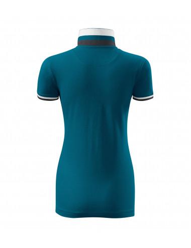 2Adler MALFINIPREMIUM Koszulka polo damska Collar Up 257 petrol blue