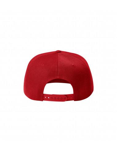 2Adler MALFINI Czapka unisex Rap 5P 301 czerwony