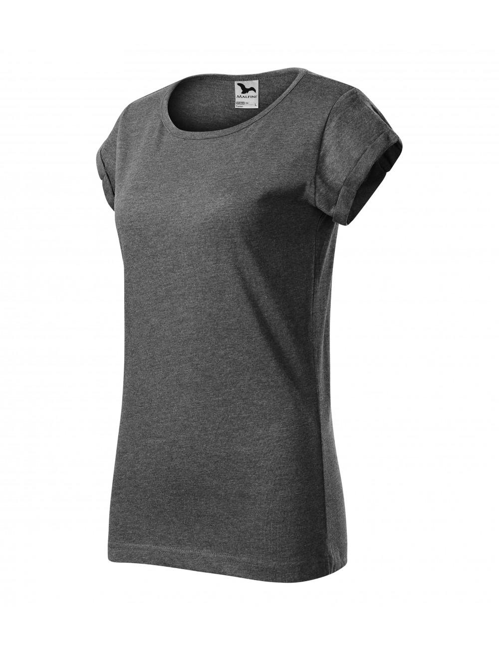 Adler MALFINI Koszulka damska Fusion 164 czarny melanż