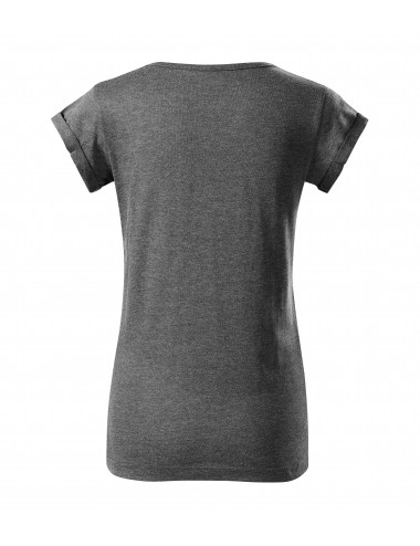 2Adler MALFINI Koszulka damska Fusion 164 czarny melanż