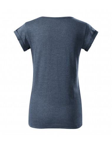 2Adler MALFINI Koszulka damska Fusion 164 ciemny denim melanż