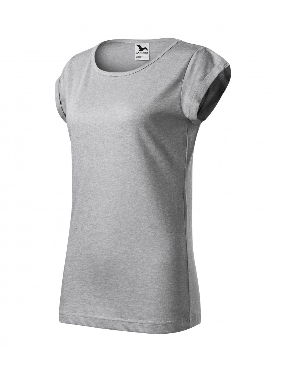 Adler MALFINI Koszulka damska Fusion 164 srebrny melanż