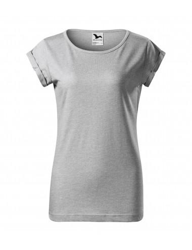 2Adler MALFINI Koszulka damska Fusion 164 srebrny melanż