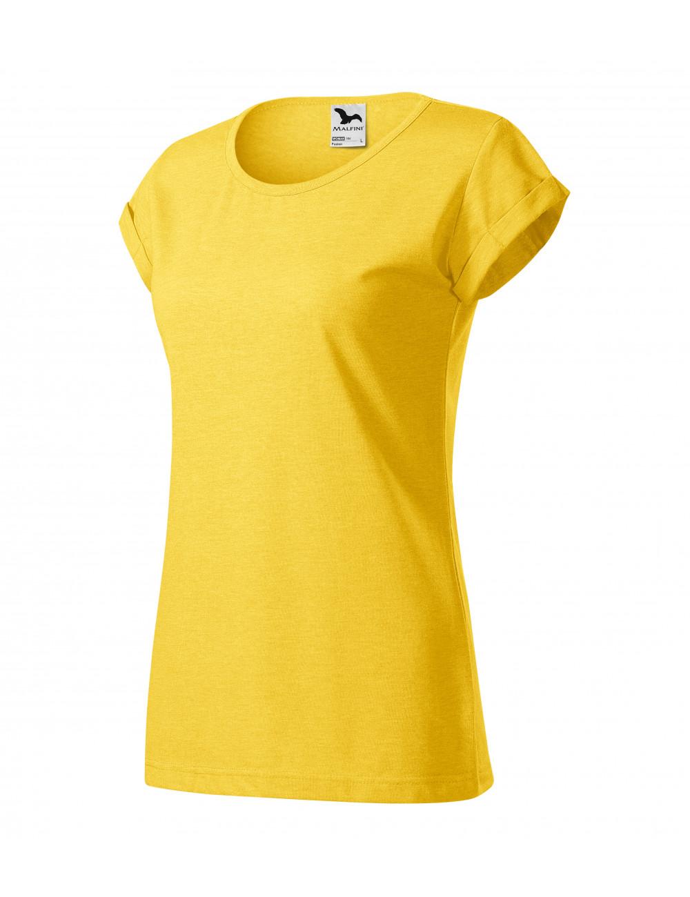 Adler MALFINI Koszulka damska Fusion 164 żółty melanż