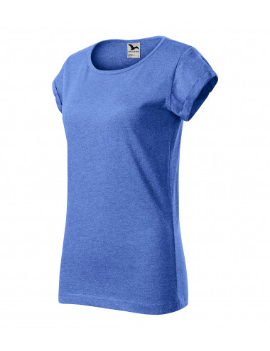 2Adler MALFINI Koszulka damska Fusion 164 niebieski melanż