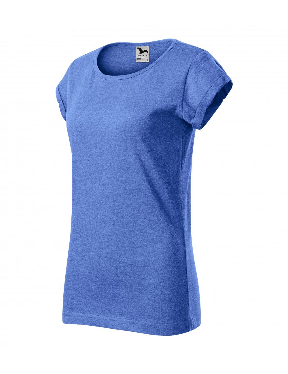 Adler MALFINI Koszulka damska Fusion 164 niebieski melanż