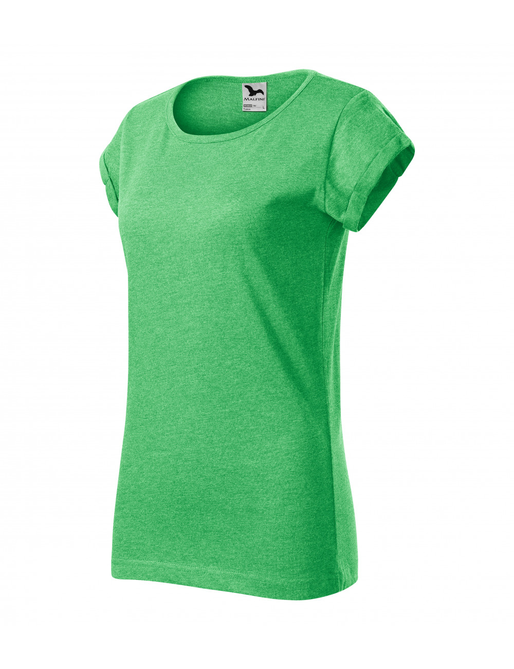 Adler MALFINI Koszulka damska Fusion 164 zielony melanż