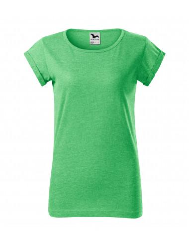 2Adler MALFINI Koszulka damska Fusion 164 zielony melanż