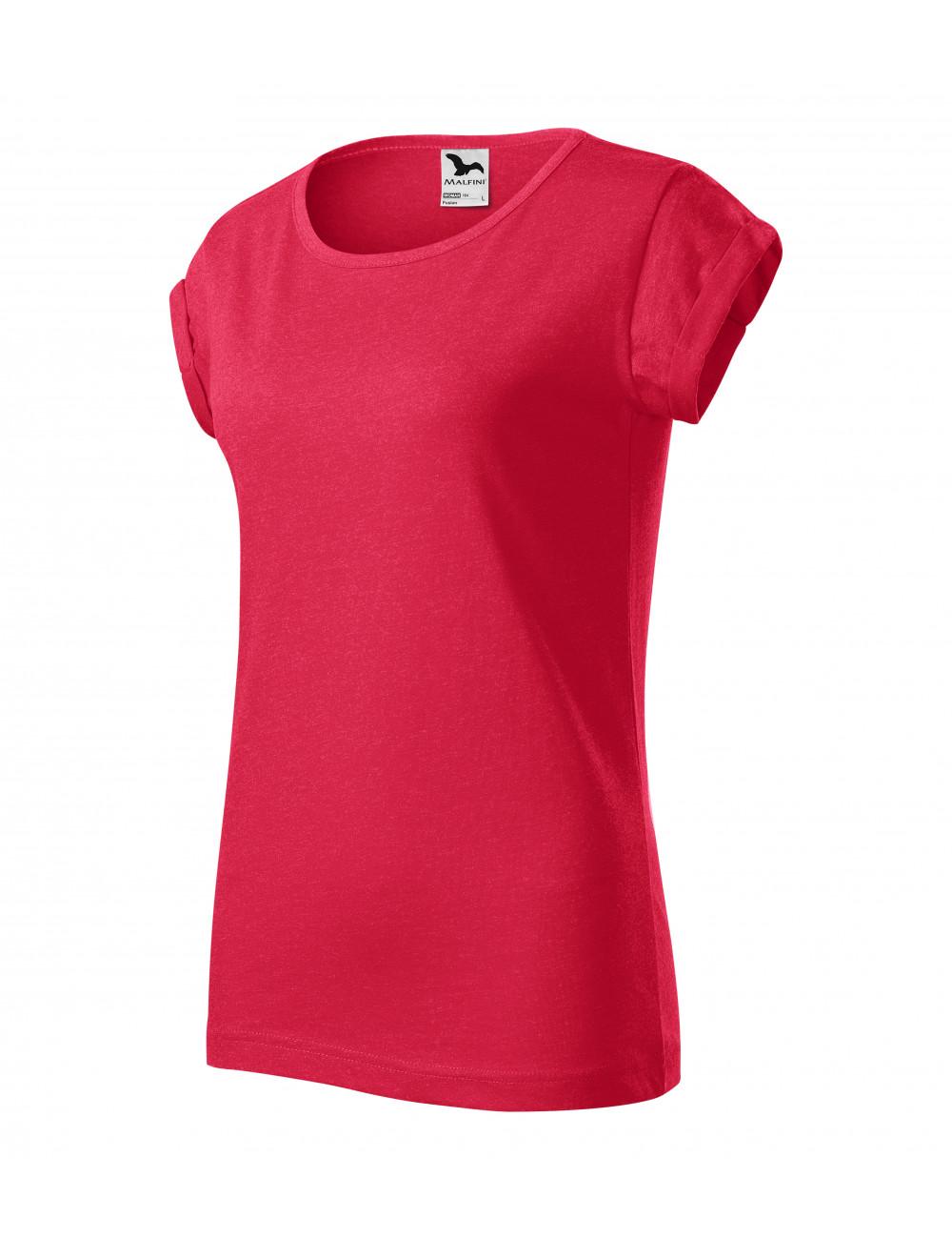 Adler MALFINI Koszulka damska Fusion 164 czerwony melanż