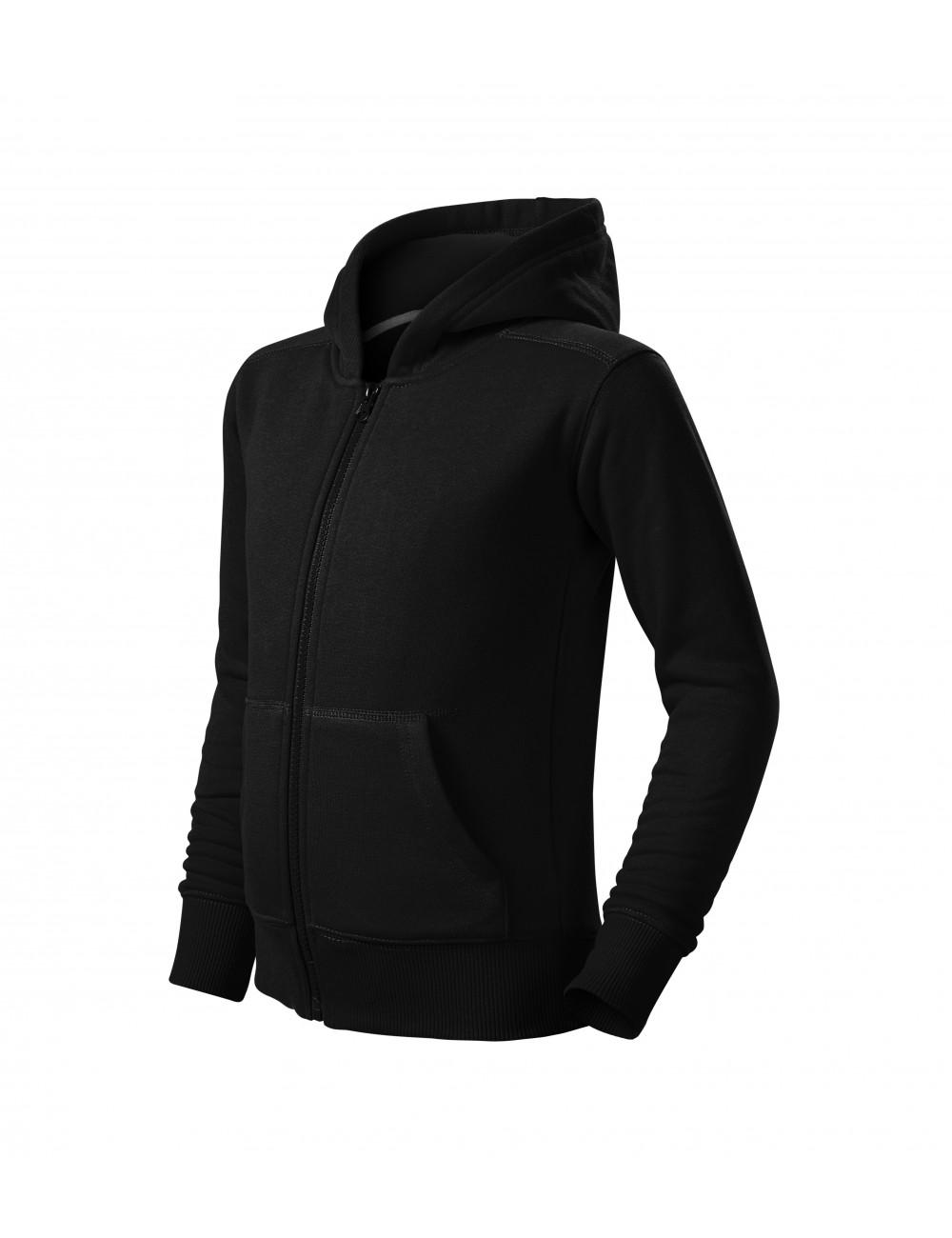 Adler MALFINI Bluza dziecięca Trendy Zipper 412 czarny