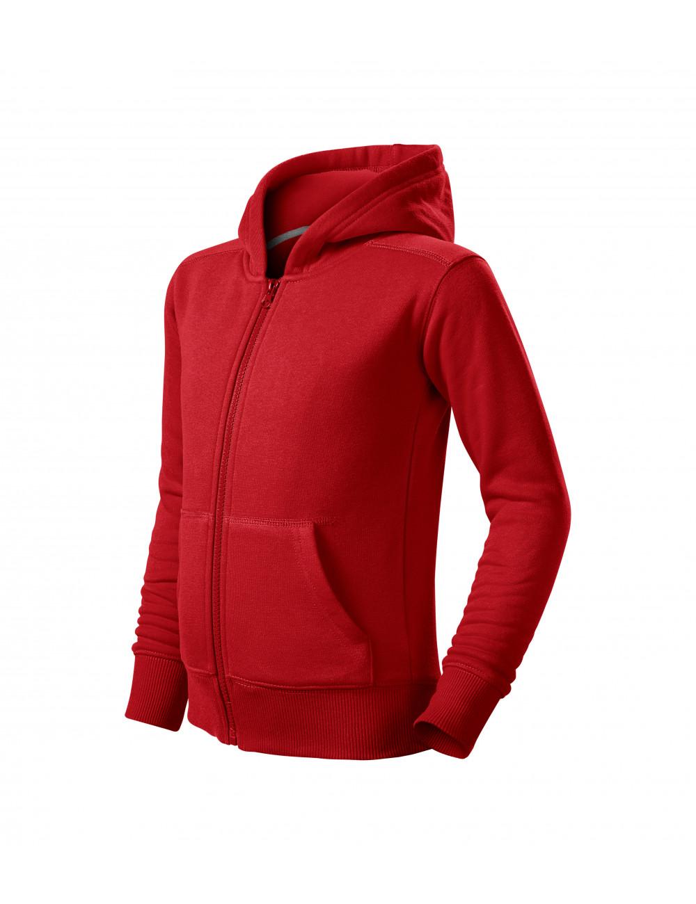 Adler MALFINI Bluza dziecięca Trendy Zipper 412 czerwony