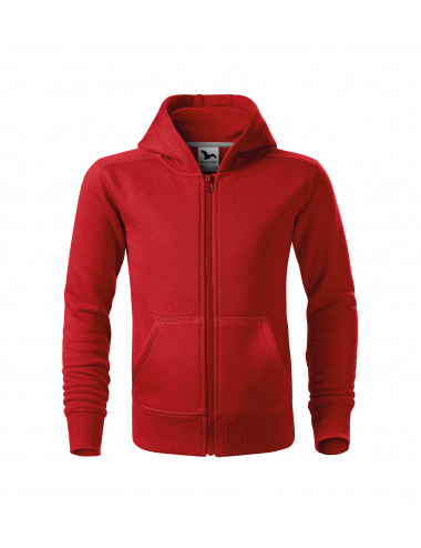 2Adler MALFINI Bluza dziecięca Trendy Zipper 412 czerwony