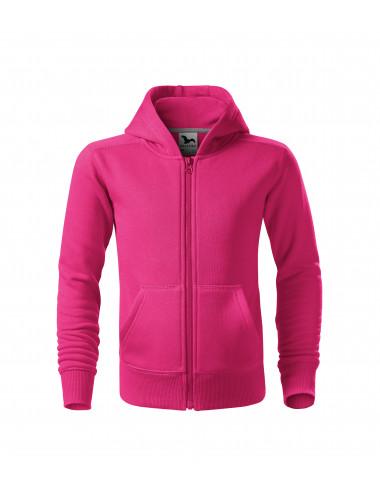 2Adler MALFINI Bluza dziecięca Trendy Zipper 412 czerwień purpurowa