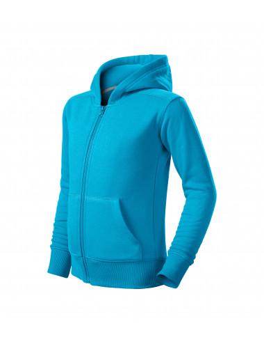 2Adler MALFINI Bluza dziecięca Trendy Zipper 412 turkus