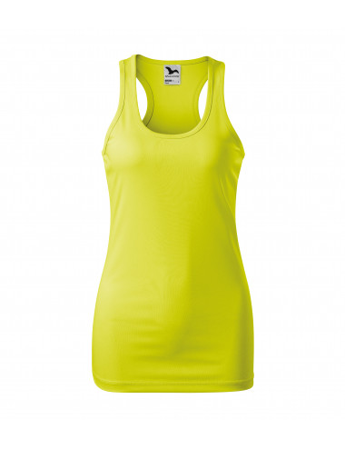 2Adler MALFINI Top damski Racer 167 neon yellow
