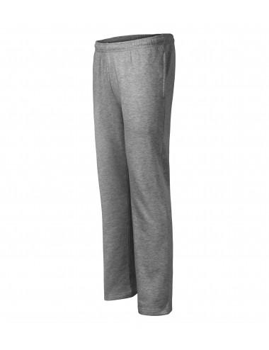 2Adler MALFINI Spodnie dresowe męskie/dziecięce Comfort 607 ciemnoszary melanż