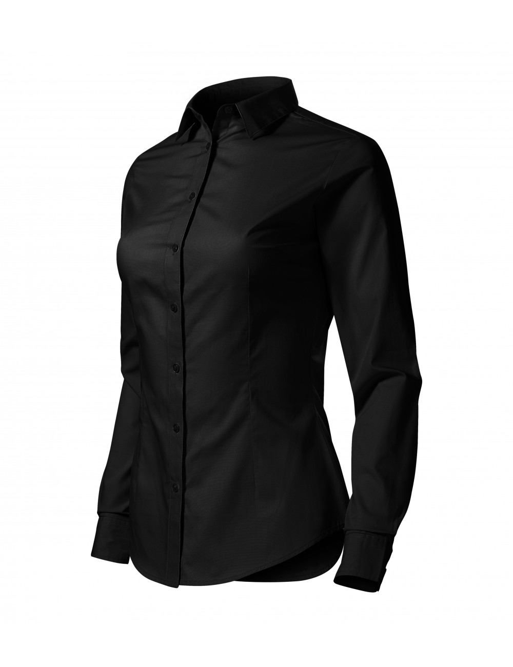 Adler MALFINI Koszula damska Style LS 229 czarny