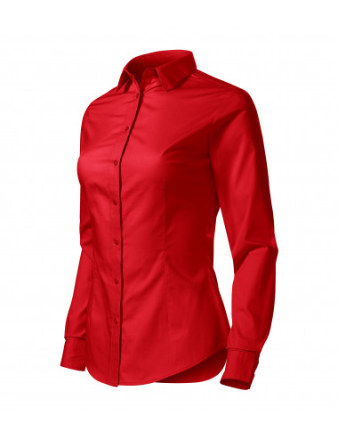2Adler MALFINI Koszula damska Style LS 229 czerwony